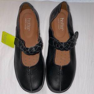 """Hotter """"Shake"""" Mary Jane Leather Shoes Size 8 US"""